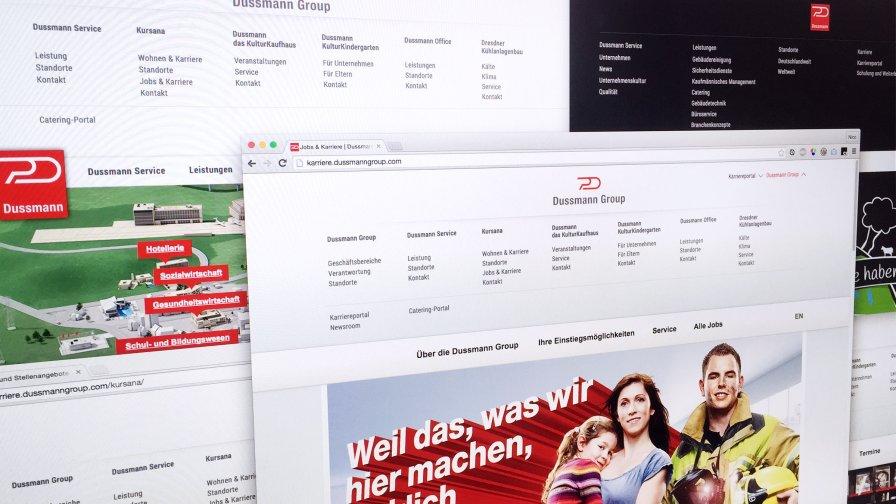 Websites für die Dussmann Group (Auswahl)